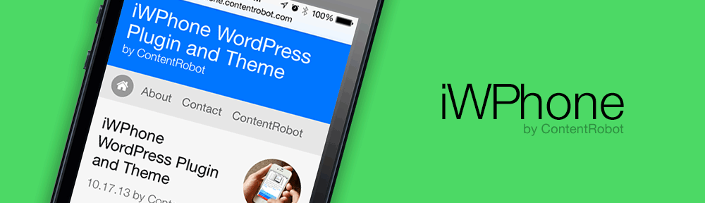 iWPhone WordPress Plugin and Theme